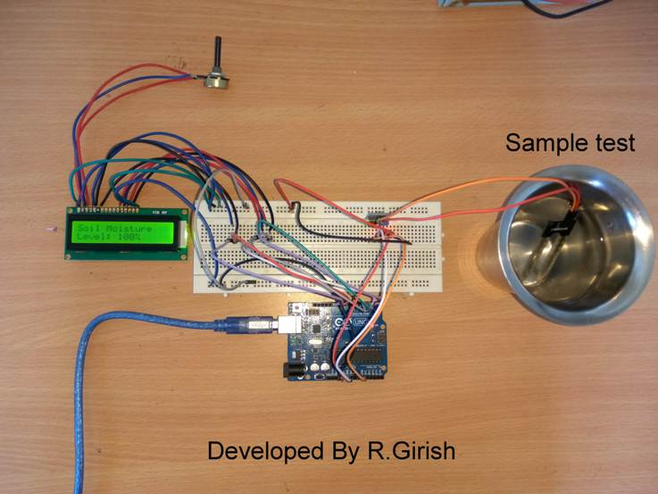 Arduino based Automatic Irrigation Prototype Image