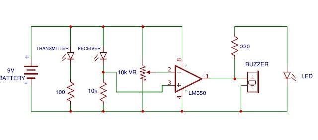 IR proximity detector circuit
