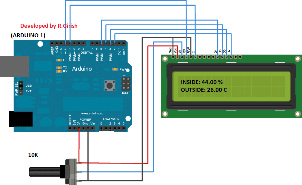 Make This Wireless Thermometer Using 433 Mhz Rf Link Using Arduino