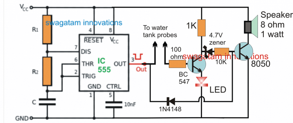 Car Tank Water Sensor Circuit