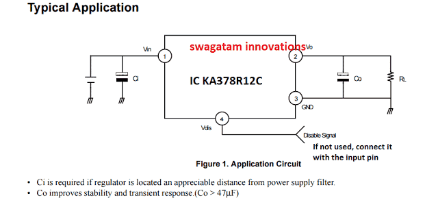 Low Voltage Dropout Regulator IC KA378R12C Application Circuit