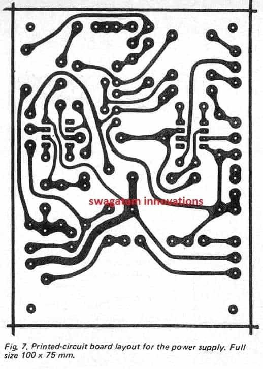 0-40V Adjustable Power Supply PCB Track Layout