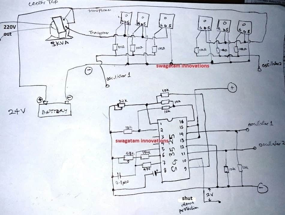 simple pwm inverter circuit diagram using pwm chip sg3524 circuits3 high power sg3525 pure sinewave inverter circuits homemadesimple pwm inverter circuit diagram using pwm chip
