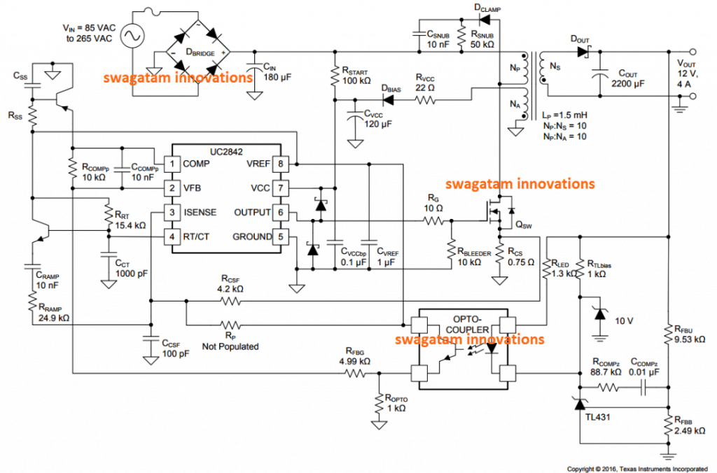 Compact 12V 2 Amp SMPS Circuit