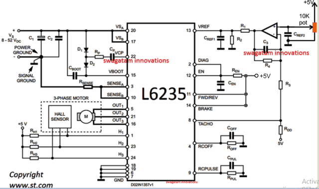BLDC Ceiling Fan Circuit for Power Saving