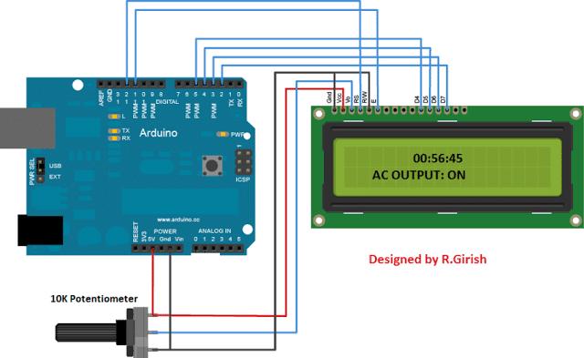 LCD Socket Timer Circuit Using Arduino