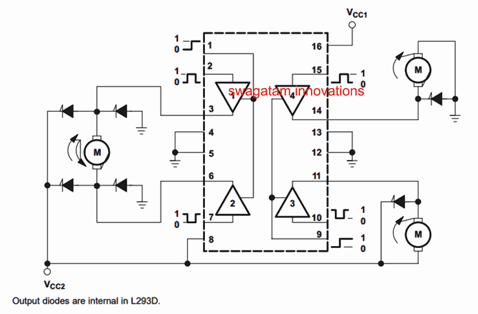 Motor Controller using L293 IC