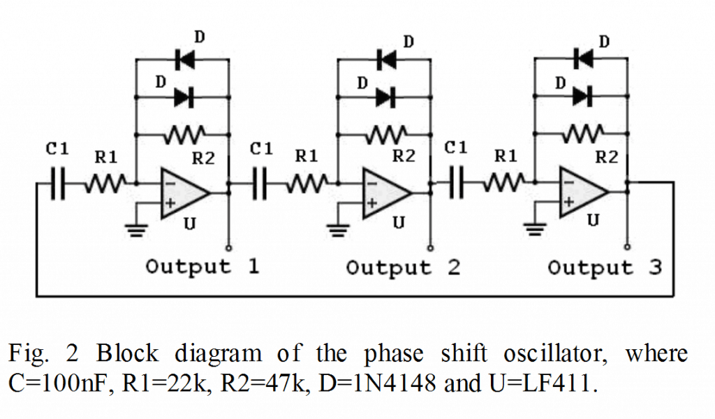 opamp based 3 phase generator circuit