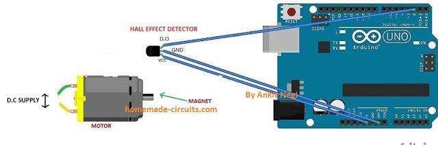 tachometer circuit using Arduino