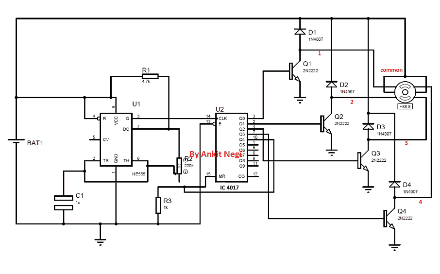 simple stepper motor driver using 555 timer ic circuit 555 timer astable the cruise control system schematic of