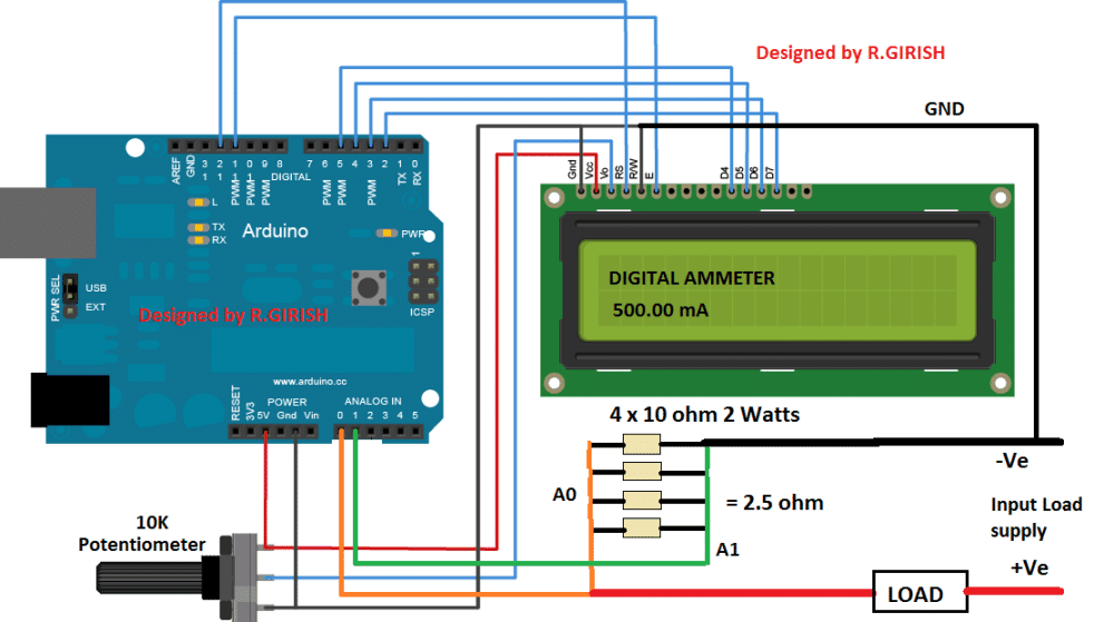 Ammeter on Digital Ammeter Schematic