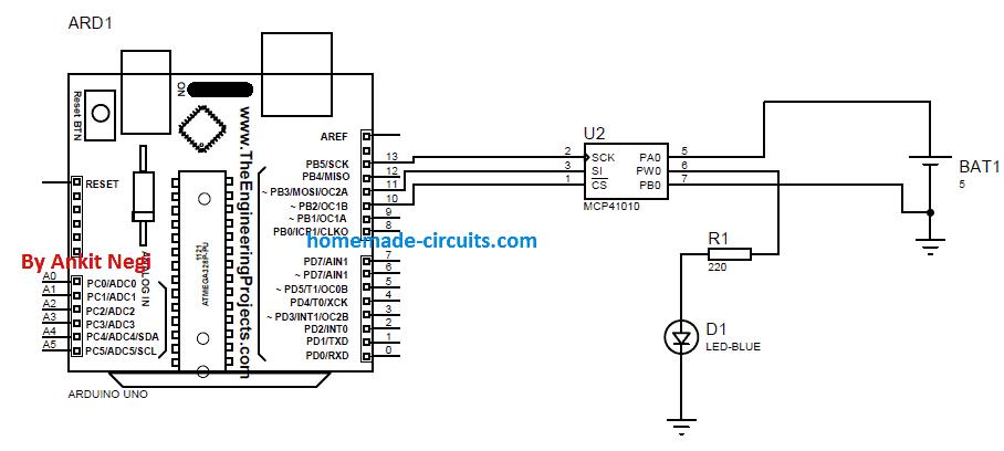 using digital potentiometer mcp41xx with arduino