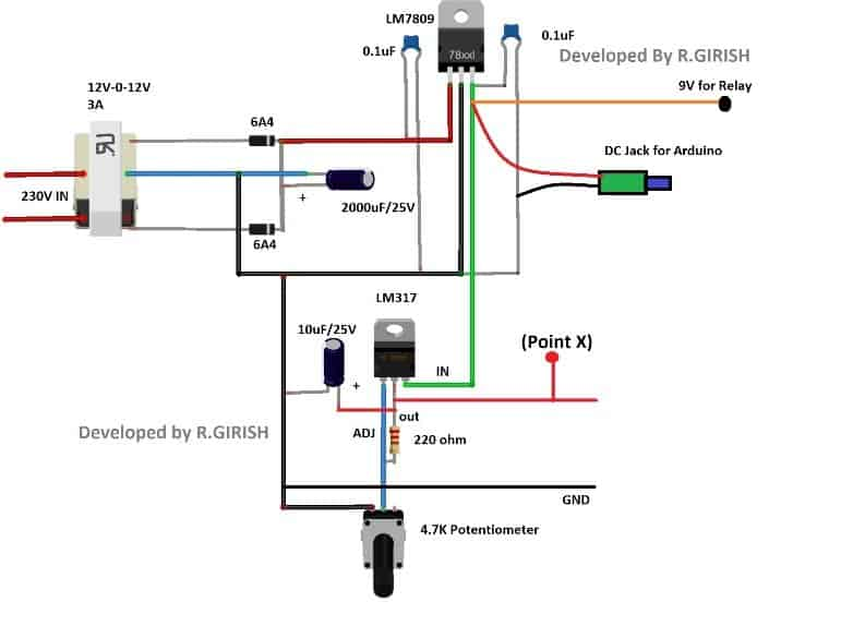Over Current Cut-off Power Supply Using Arduino