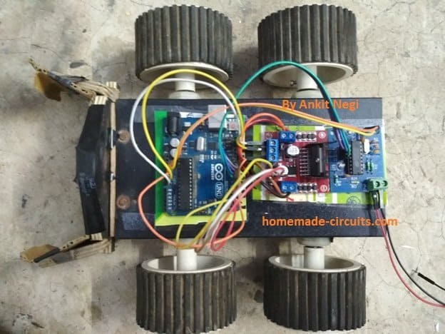 Mobile Phone Controlled Robot Car Using DTMF Module