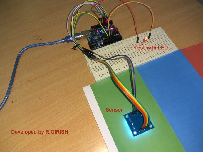 Arduino color sensor prototype