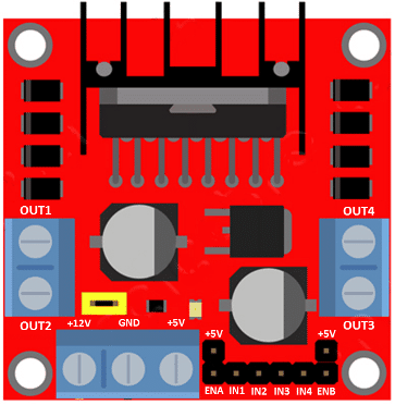 technical details of L298N module.