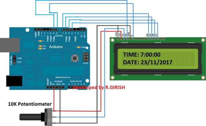 Arduino school bell LCD