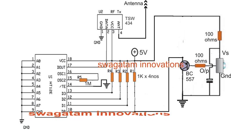 The IR to RF Range Extender Transmitter Circuit