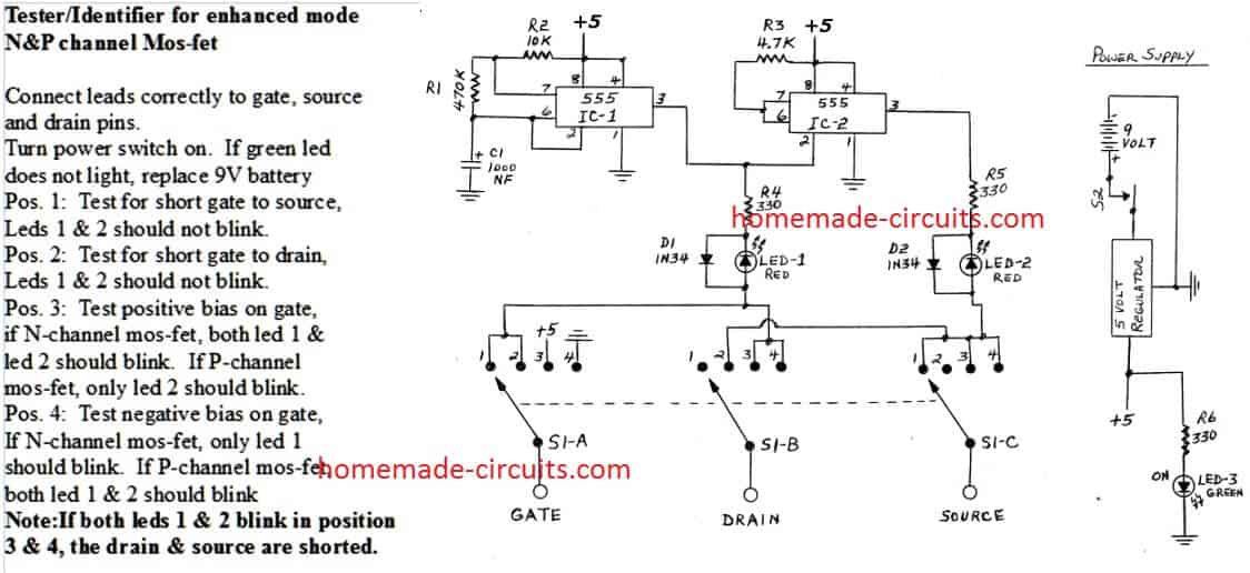 MOSFET fault finder Circuit