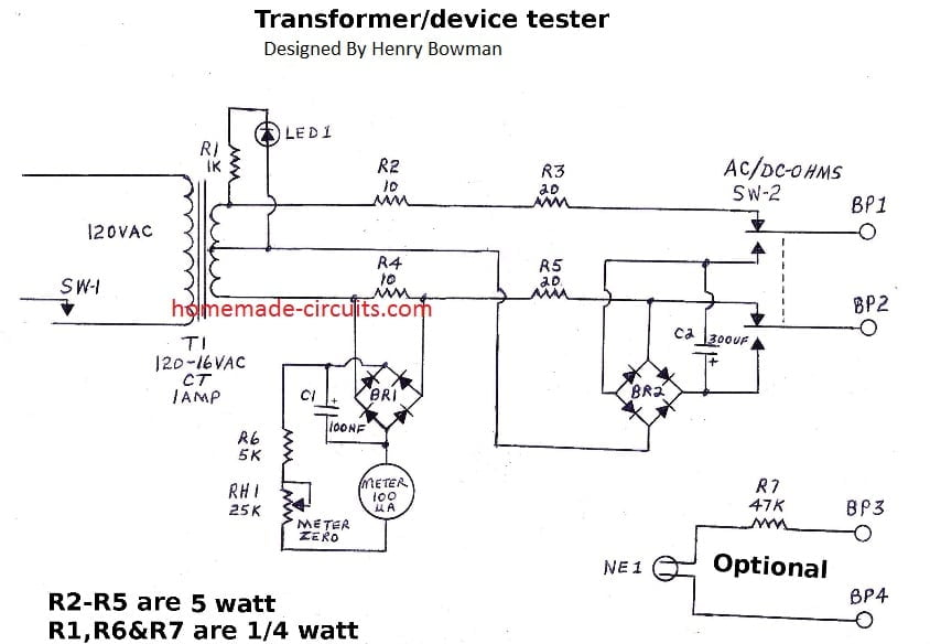 Simple Transformer Winding Tester Circuit | Homemade Circuit ... on