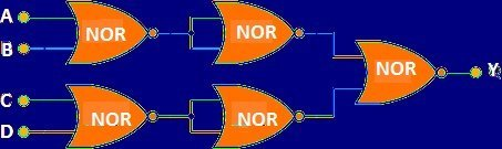Multi Input Logic NOR Gates: