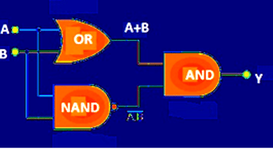 "Equivalent circuit for ""Exclusive OR"" gate"