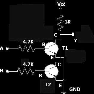 Two Transistor NOR gate Schematic